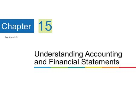 Understanding Accounting and Financial Statements Chapter 15 Sections 1-5.