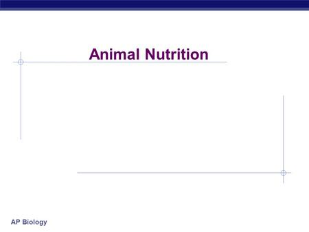 AP Biology Animal Nutrition AP Biology What do animals need to live? O2O2 food ATP  Animals make energy using:  food  oxygen  Animals build bodies.