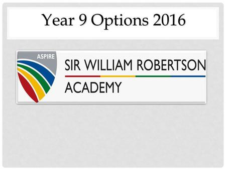 Year 9 Options 2016.
