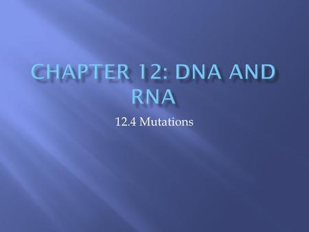 12.4 Mutations.  What is a mutation and where can it occur? Inheritable change in genetic code 99.9 % are harmful, only 0.1% are helpful  Any change.