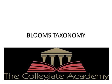 BLOOMS TAXONOMY AND DATA BASED QUESTIONING. What is Blooms Taxonomy Blooms Taxonomy is used for the development of higher leveled thinking.