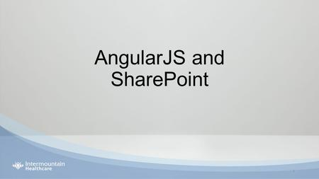 AngularJS and SharePoint