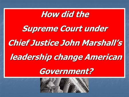 The United States Supreme Court Article 3 of the US Constitution The U.S.S.C. interprets the Constitution and the Law How did the Supreme Court under.