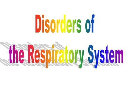 1. Emphysema Emphysema Alveoli become damaged making respiratory surface smaller Causes shortness of breath Smoking greatly increases risk.