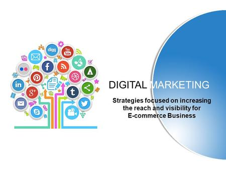 DIGITAL MARKETING Strategies focused on increasing the reach and visibility for E-commerce Business.