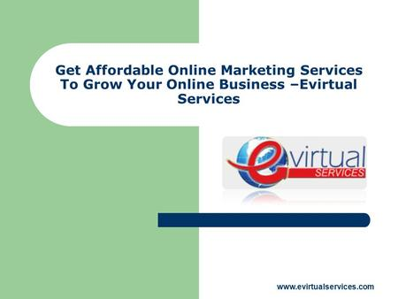 Get Affordable Online Marketing Services To Grow Your Online Business –Evirtual Services www.evirtualservices.com.