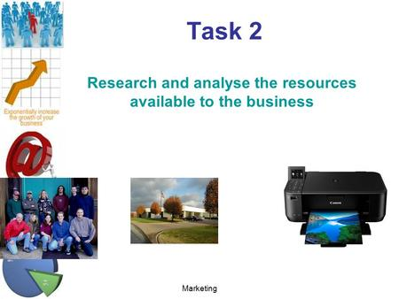 Marketing Task 2 Research and analyse the resources available to the business.