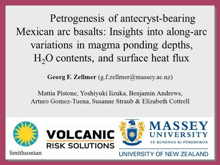 Petrogenesis of antecryst-bearing Mexican arc basalts: Insights into along-arc variations in magma ponding depths, H 2 O contents, and surface heat flux.