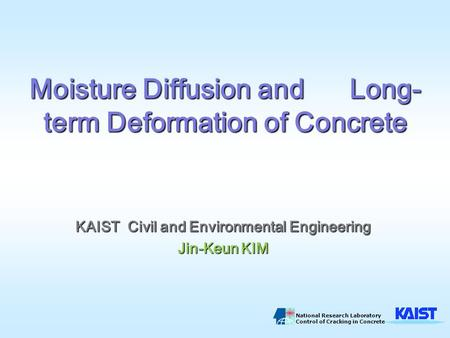 Moisture Diffusion and Long-term Deformation of Concrete