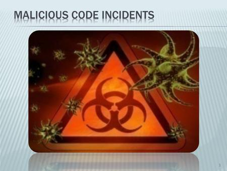 1. Definition : Malicious code refers to a program that is covertly inserted into another program with the intent to Malicious activities. 2.