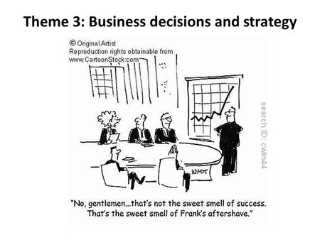 Theme 3: Business decisions and strategy. 3.1 Business objective and strategy syllabus 3.1.1 Corporate objectives 3.1.2 Theories of corporate strategy.