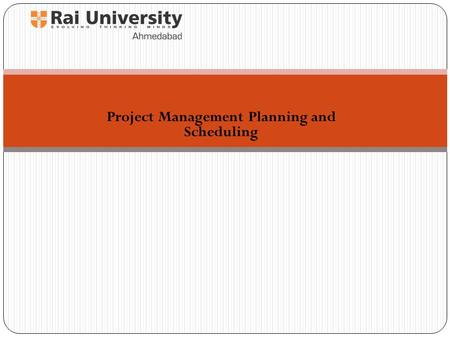 "Project Management Planning and Scheduling. ""Failing to plan is planning to fail"" by J. Hinze, Construction Planning and Scheduling Planning: ""what"" is."