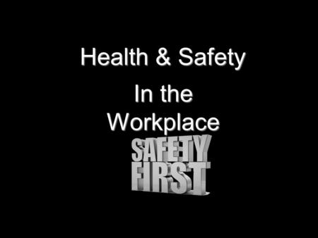 Health & Safety In the Workplace Question 1 You should report any accidents to your supervisor A Sometimes B if you think the accident is serious enough.