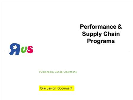 Performance & Supply Chain Programs