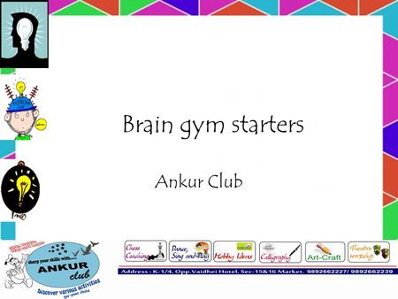 Brain gym starters Ankur Club. This is how quickly your brain forgets things.