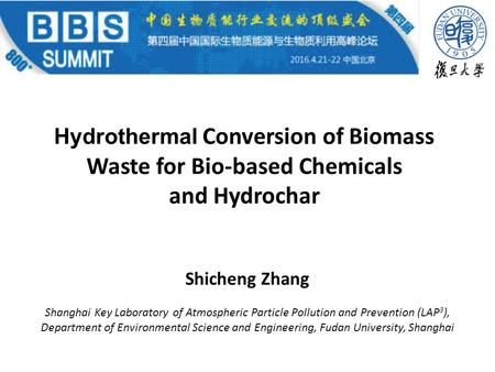 Hydrothermal Conversion of Biomass Waste for Bio-based Chemicals