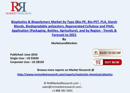 Bioplastics & Biopolymers Market is Driven by Rising Demand from End Use Industries