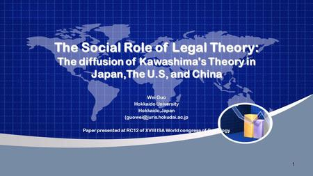 1 The Social Role of Legal Theory: The diffusion of Kawashima's Theory in Japan,The U.S, and China Wei Guo Hokkaido University Hokkaido,Japan