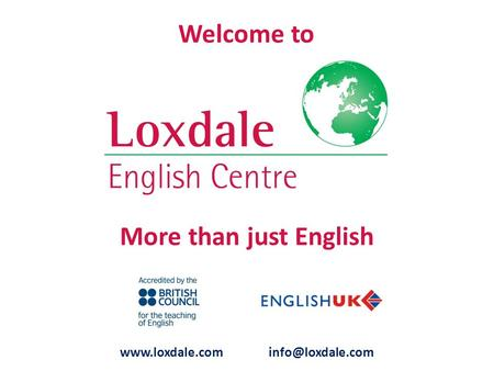 More than just English  Welcome to.