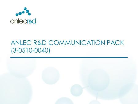 ANLEC R&D COMMUNICATION PACK (3-0510-0040). While the vanadium alloy membranes are an embryonic technology, which require further demonstration are larger.