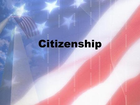 "Citizenship. In your opinion, what is an American? What comes to mind when you hear the word ""American?"" Use your imagination and draw a picture that."