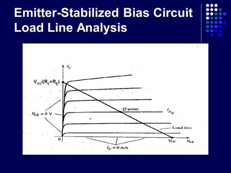 Emitter-Stabilized Bias Circuit Load Line Analysis.