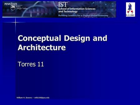 William H. Bowers – Conceptual Design and Architecture Torres 11.