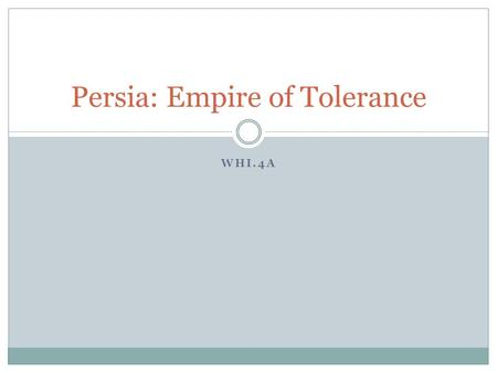 Persia: Empire of Tolerance