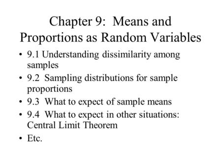 1 Sampling Distributions Presentation 2 Sampling Distribution of ...
