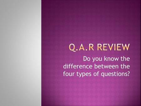 Do you know the difference between the four types of questions?
