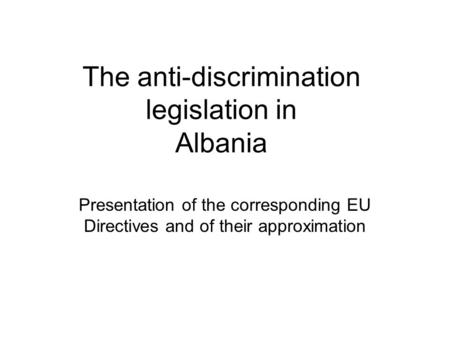 equal opportunities and anti discriminatory practice policy essay Suggest the main-streaming of anti-discrimination activities (wrench 1999)   deal with workforce diversity issues are equality/equal opportunity (eo)  legislation  the integration of diversity practices and policies into hrm or its  relevance in.