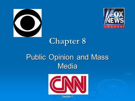 Section 1 Chapter 8 Public Opinion and Mass Media.