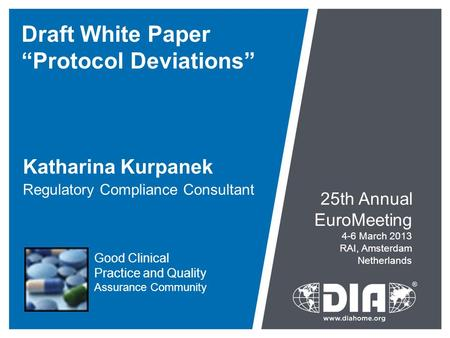 "Draft White Paper ""Protocol Deviations"""