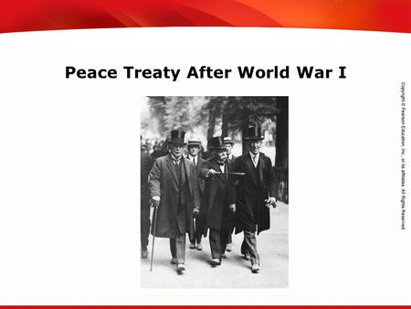 TEKS 8C: Calculate percent composition and empirical and molecular formulas. Peace Treaty After World War I.