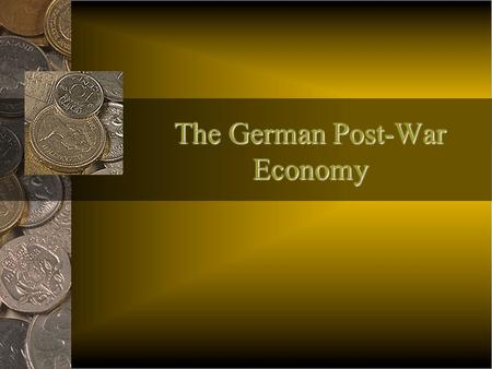 The German Post-War Economy Aftermath of the Great War After The Great War (1918), the victorious Allies met at Versailles to write a treaty that would.