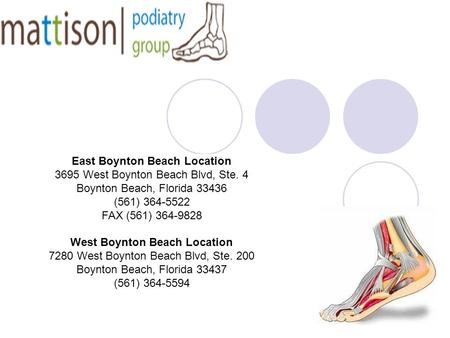 East Boynton Beach Location 3695 West Boynton Beach Blvd, Ste. 4 Boynton Beach, Florida 33436 (561) 364-5522 FAX (561) 364-9828 West Boynton Beach Location.