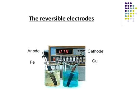 The reversible electrodes. 2) Components of an electrode: 1. Current collector (first-class conductor) 2. Active materials: involves in electrochemical.
