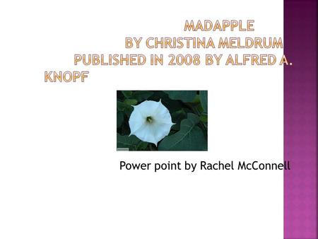 Power point by Rachel McConnell. The book takes place in Hartswell, Maine. And it starts with our main character, Aslaug, living with her mother in the.