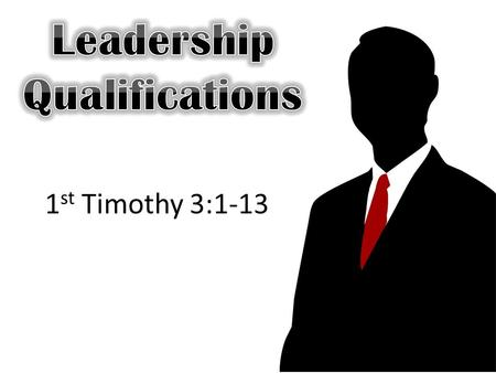 1 st Timothy 3:1-13. in the daily ministration appoint over this business (Act 6:1-4) And in those days, when the number of the disciples was multiplied,