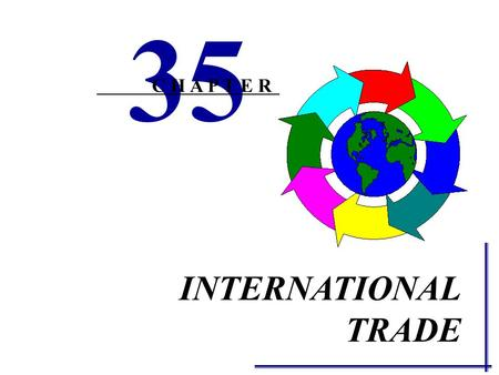 INTERNATIONAL TRADE 35 C H A P T E R SUPPLY AND DEMAND ANALYSIS OF EXPORTS AND IMPORTS The amount of a good or service a nation will export or import.