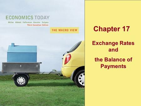 Copyright © 2005 Pearson Education Canada Inc.17-1 Chapter 17 Exchange Rates and the Balance of Payments.