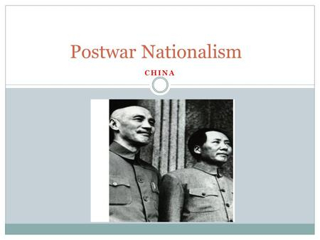 CHINA Postwar Nationalism. Overview Chinese civilization was in great disorder during and after WWI. After Sun Yixian (Dr. Sun Yat-Sen) founder of the.