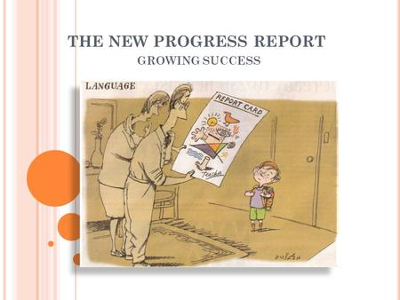 THE NEW PROGRESS REPORT GROWING SUCCESS. NEW TIMELINE o Progress report home November 5 o Interviews November 12 o First report card home February 17.