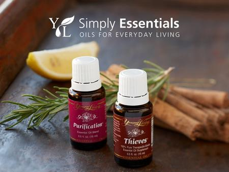 What you'll experience tonight: What is an essential oil? Young Living Therapeutic Grade™. Smell, taste, touch our most popular oils. How to transform.