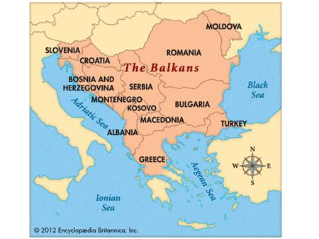 Nationalism in the Balkans At the turn of the century, European competition between A-H and R focused on turbulent area of SEE (southeastern Europe) known.