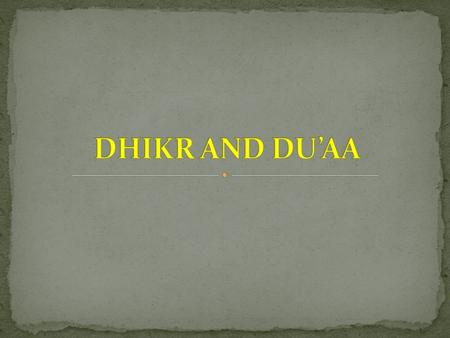 Dhikr is an Arabic word. If you do dhikr of someone you remember that person. You mention him to yourself or to someone. In Islam it means remembering.