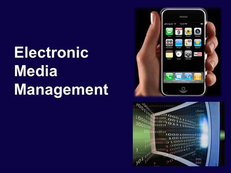 Electronic Media Management 1. Characteristics of Media Products Experience Goods a product or service where product characteristics, such as quality.
