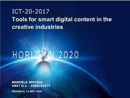 ICT Tools for smart digital content in the creative industries