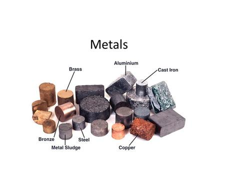 Metals. Starter Activity Describe the three processes for extracting metals. Which process is for the most reactive metals? Name 2 alkali metals Name.