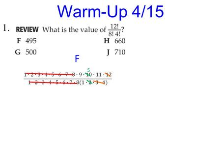 1. Warm-Up 4/15 F 5. Rigor: You will learn how to find inverse functions algebraically and graphically. Relevance: You will be able to use functions.